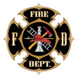 Fire Department Maltese Cross Vintage