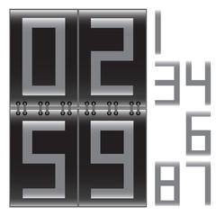 Digital display. Vector illustration