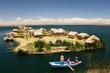 Leinwandbild Motiv Titicaca lake, Peru, floating islands Uros