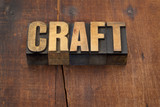 craft word in wood type