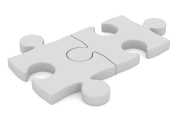 Puzzle on white background. Isolated 3D image