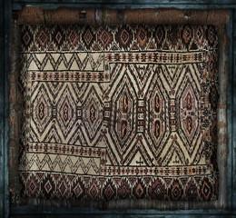tappeto vintage in cornice