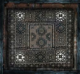tappeto persiano in cornice