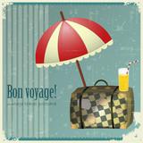 Vintage Travel Postcard poster