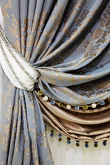 fragment of the beautiful curtains