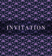 Retro vector violet invitation card