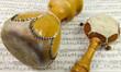 Leinwanddruck Bild - Afrikanische Instrumente