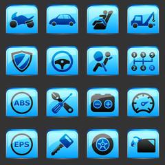 button Blue Automotive