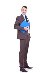young business man with clipboard