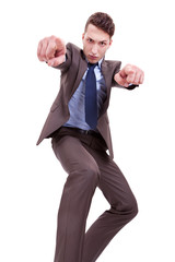 Angry Business man pointing