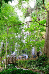 "Waterfall at the ""Monasterio de Piedra"""