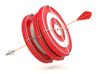 Success concept. Target. 3D model