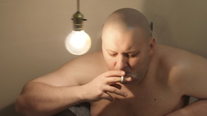 Sadness men smoking