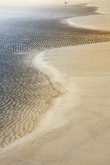 Rippled sand on an island