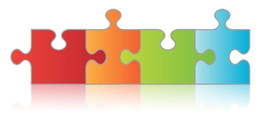 Four Piece Puzzle Chain