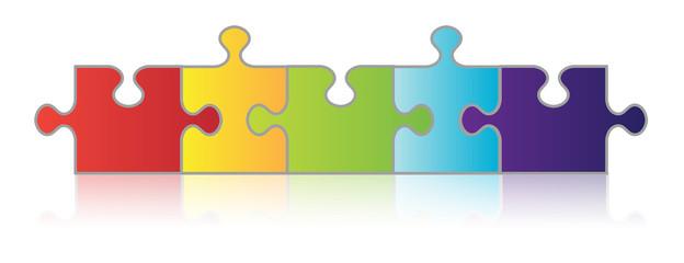 Five Piece Puzzle Chain