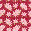Floral seamless background with lily