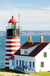 West Quoddy Head Lighthouse, Maine, USA