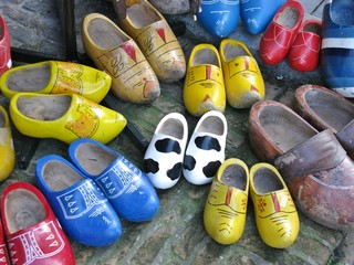 Ancient wooden shoes