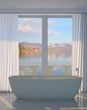 Classic Bathroom with Lake View