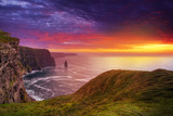 Fototapety Idyllic Cliffs of Moher at sunset, Co. Clare, Ireland