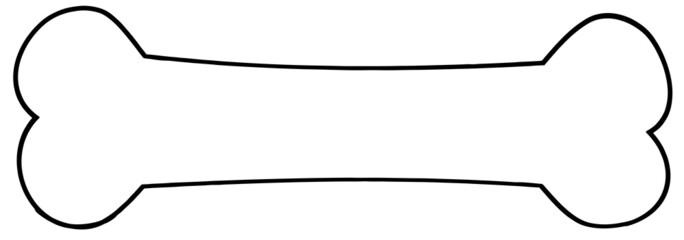Outlined Dog Bone