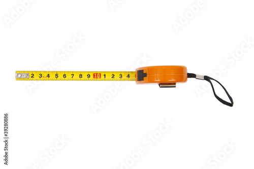 measuring line on a white background