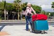 Reisende Seniorin