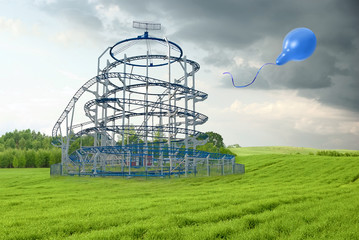 roller coaster in the field