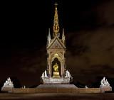 The Albert Memorial in Kensington poster
