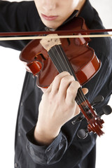 Image boy playing the violin