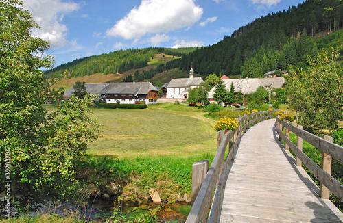 Leinwandbild Motiv Urlaubsort Menzenschwand im Schwarzwald in Baden-Wuerttemberg