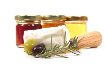 Olive miele e formaggio