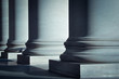 Leinwanddruck Bild - Pillars of Law and Education