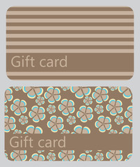 abstract beautiful set of gift card design, vector illustration.