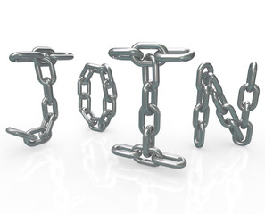 Join Word in Chain Links Joining Group Locked In