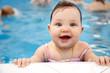 Leinwandbild Motiv baby swimming