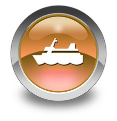 "Orange Glossy Pictogram ""Cruise Liner"""