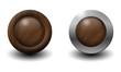3d Button Iron-Wood