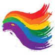 taches et traces arc en ciel - symbole gay et lesbienne
