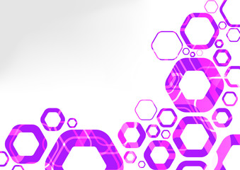 Hexagon futuristic background abstraction