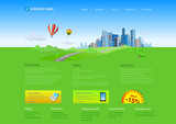 Fototapety Skyscrapers cityscape business website template