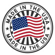 A circular made in the U.S.A. vector decal or stamp - 39293617