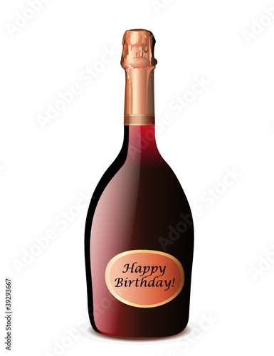 "Rosé Champagner ""Happy Birthday"""