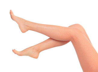 Long female legs after depilation