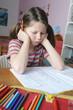 Genervt von den Hausaufgaben