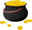 A Pot full of gold coins icon.