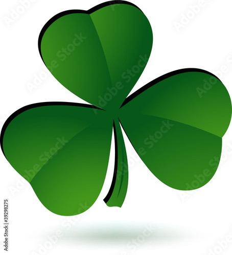 Shamrock icon. Vector