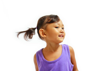 cheerful asian little girl portrait