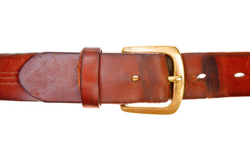 used broun leather belt
